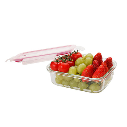 Kukeri 640ml Rectangle Glass Container with Air Vent Lid