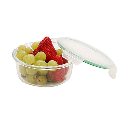 Kukeri 640ml Round Glass Container with Air Vent Lid