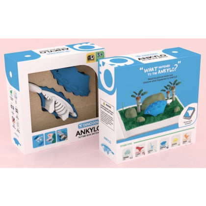 HALFTOYS® Ankylo with Picture Book