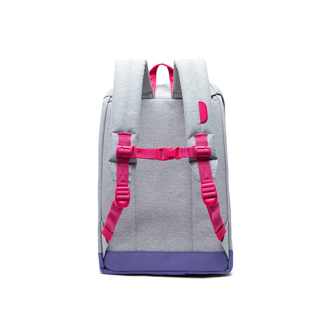 Herschel Retreat Youth Light Grey Crosshatch/Raspberry Sorbet/Aster Purple