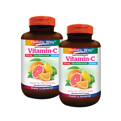 Holistic Way Vitamin C 500mg + Bioflavonoids 100C