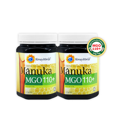 HoneyWorld Manuka MGO110+ 1KG X 2