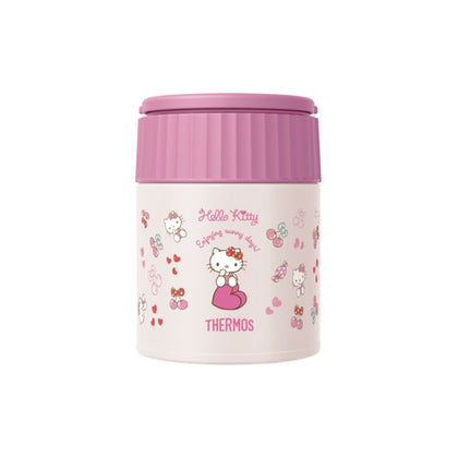 Thermos 0.4L Stainless Steel Vacuum Insulation Hello Kitty Food Jar - Pink