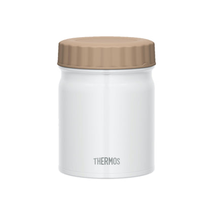 Thermos 0.4L Stainless Steel Vacuum Insulation Food Jar - White