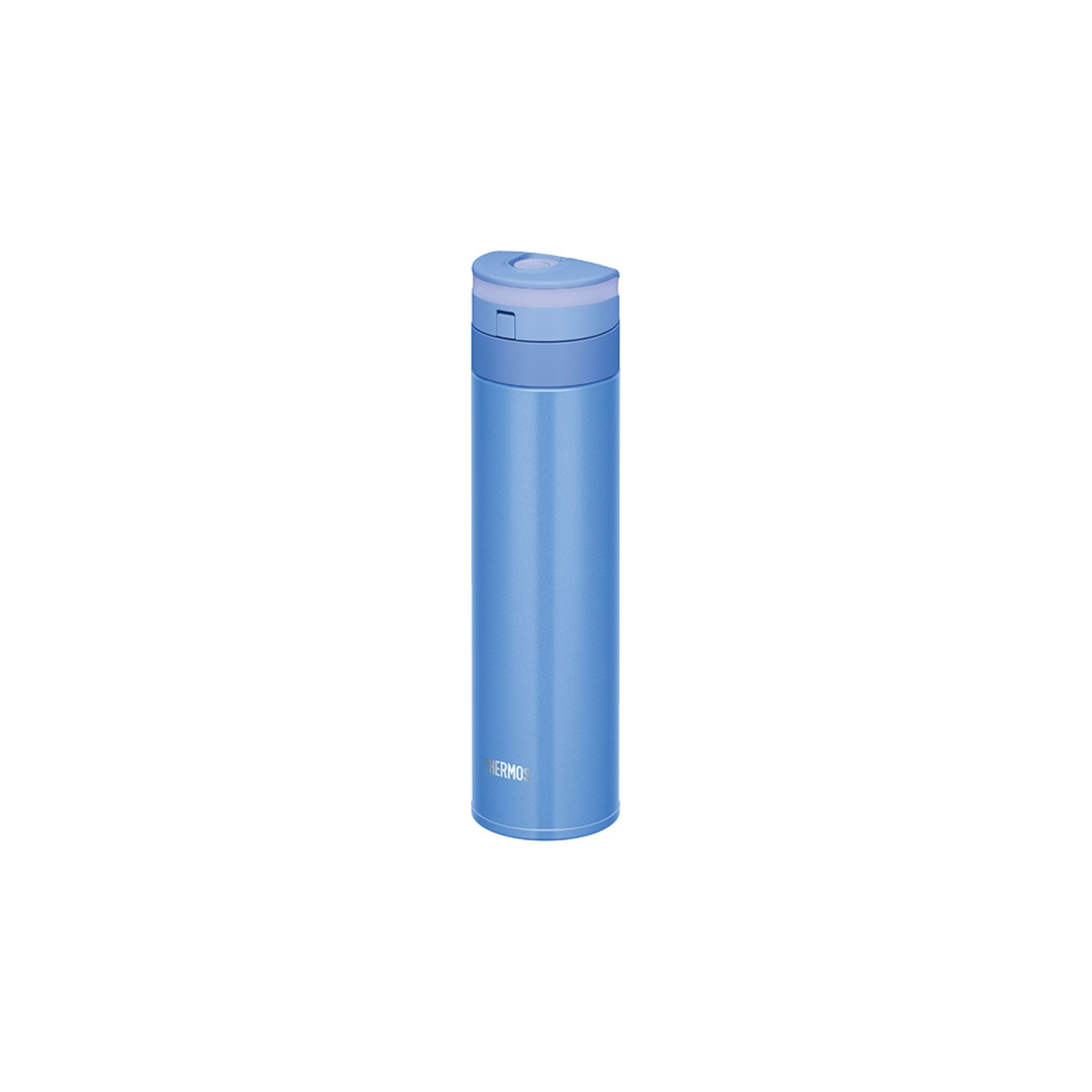 Thermos 0.45L Stainless Steel Vacuum Insulation Light Pearl Blue One-push-tumbler - Pearl Blue