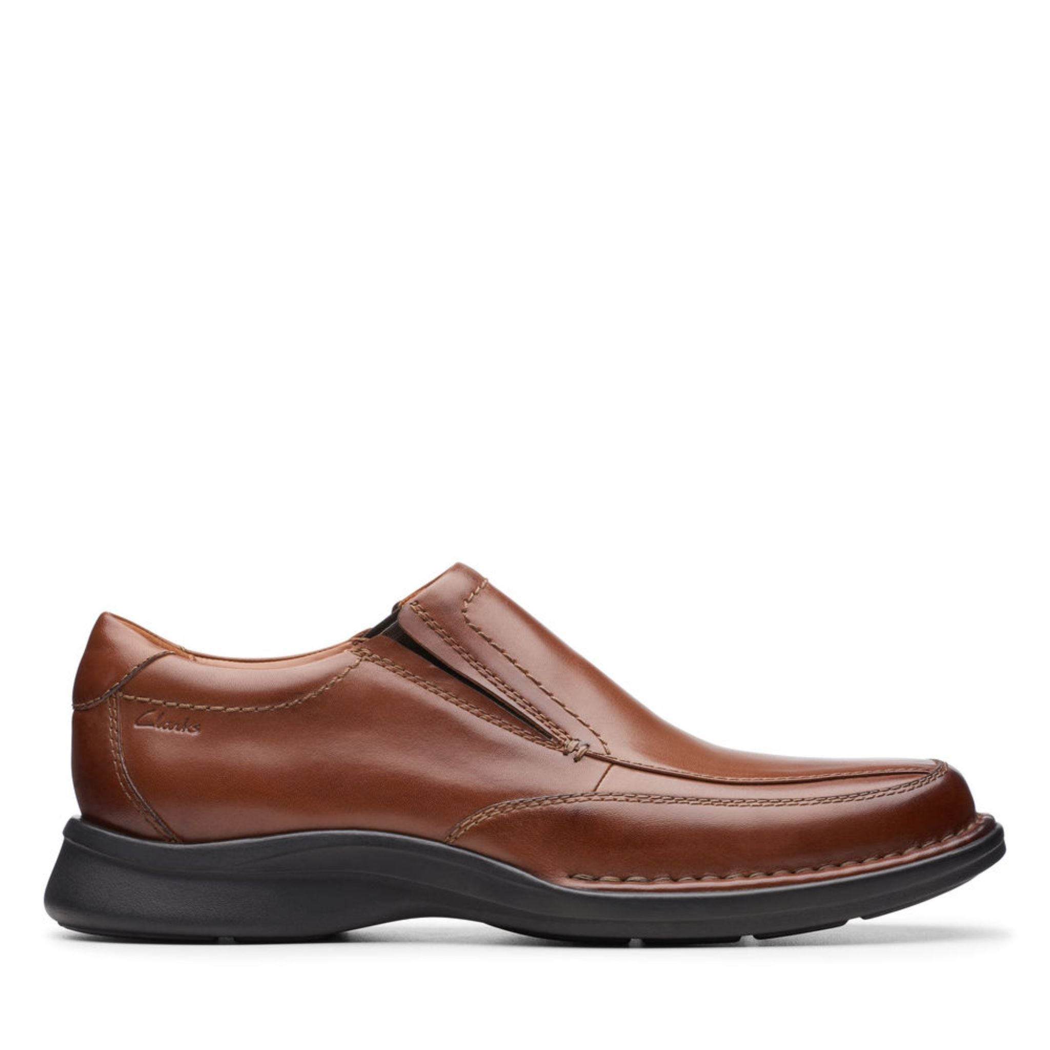 Clarks Kempton Free - Tan Leather