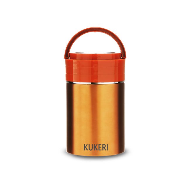 Kukeri 1L Double Wall Vacuum Insulated Food Jar - Orange