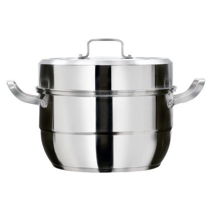 Kukeri 28cm 8.5L 304 Stainless Steel 2-in-1 Steamer Stock Pot