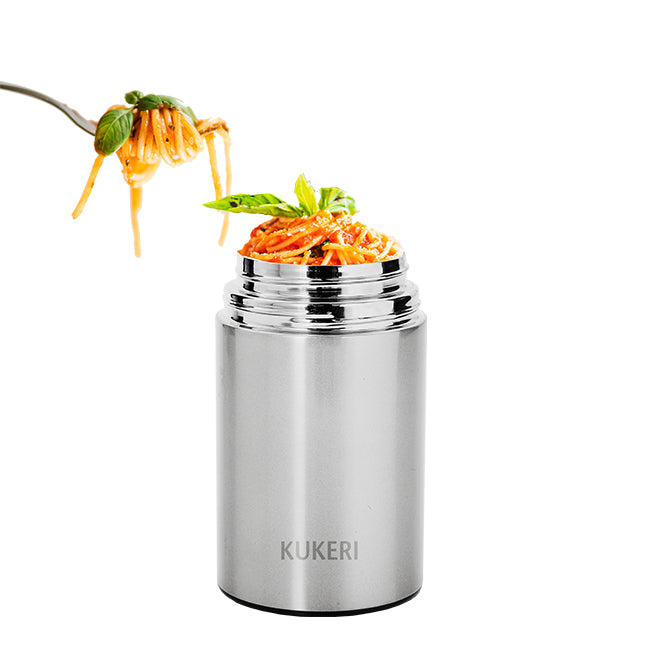 Kukeri 750ml Vacuum Insulated Food Jar - Silver