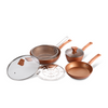 La Gourmet 5pc Shogun Copper Diamond Cookware Set