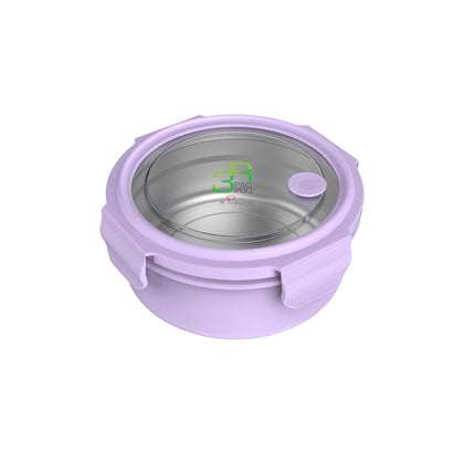 La Gourmet Sassy 1000ml Round Lunch Box - Purple