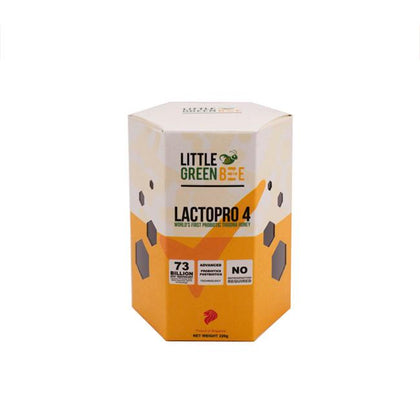 Little Green Bee Lactopro 4 Honey 220g | Probiotic Trigona Honey Made in Singapore