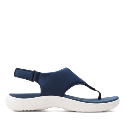 Clarks Cloudstepper Lola Aster Navy Textile