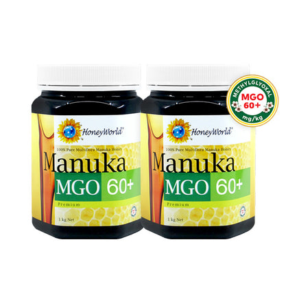 Honey World Manuka MGO60+ 1KG X 2