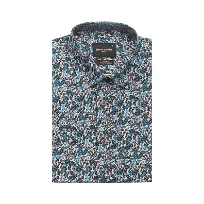 Pierre Cardin Short-Sleeved Shirt - Cornflower