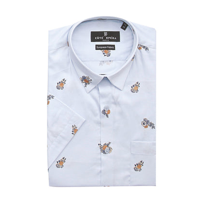 Cote Opera Short-Sleeved Shirt - Flower