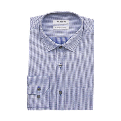 Thomas Smith Long-Sleeved Shirt - Royal Blue