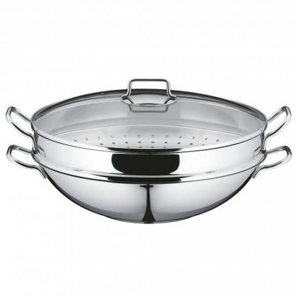 WMF Macao 36cm 4-pc Wok with Steaming Insert
