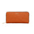 Carlo Rino Signature Monogram Leather Wallet - Orange