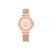 NINE WEST Women's Rose Gold-Tone Mesh Bracelet Watch NW-2146RGRG