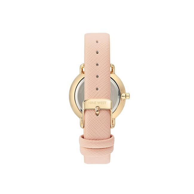 NINE WEST Women's Vegan Leather Strap Watch NW-2438LPLP
