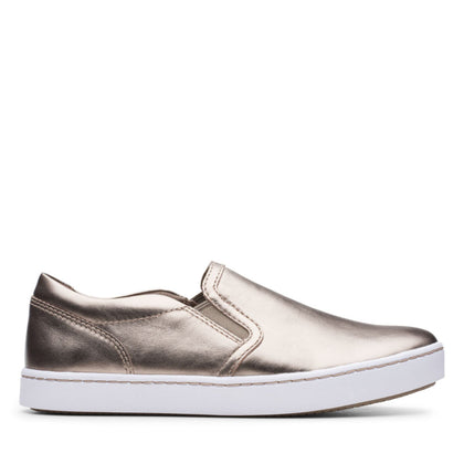 Clarks Collection Pawley Bliss Pewter Metallic Leather