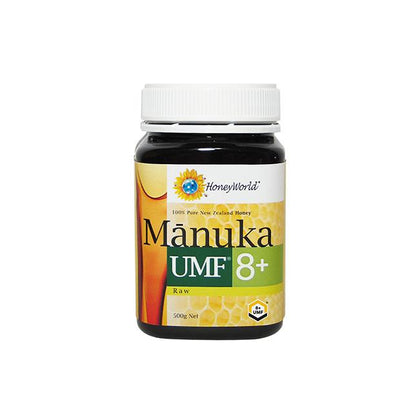 HoneyWorld Raw Manuka UMF8+500g x 2