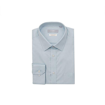 GOLDLION 100% Cotton Long-Sleeved Shirt - Green Blue