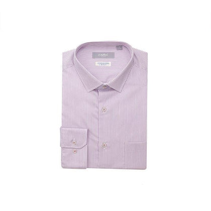 GOLDLION 100% Cotton Long-Sleeved Shirt - Purple Red