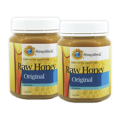 Honeyworld Raw Honey 1KG x 2