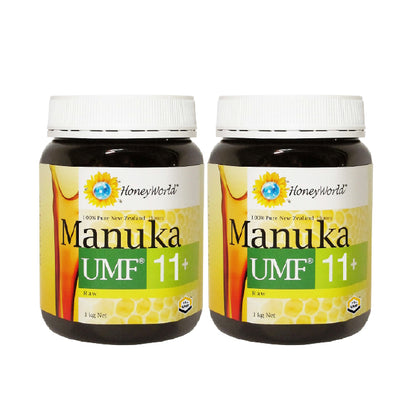 HoneyWorld Raw Manuka UMF11+ 1KG x 2