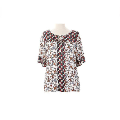 Enro Sleeved Blouse With Tied Detail