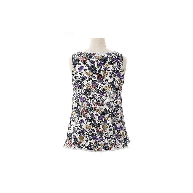 Enro Sleeveless Floral Printed Blouse