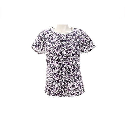 Tune Up Paisley Watercolor Floral Pattern Top