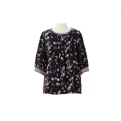 Enro Pintuck Floral Blouse