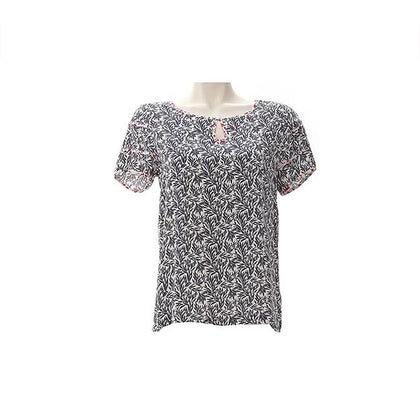 Enro Droplet Collar Floral blouse