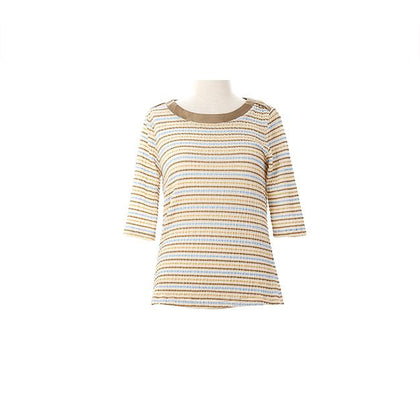 Shockwave Abstract Striped Blouse