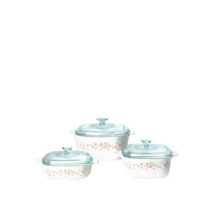 CorningWare 6pc Casserole Set - Sakura