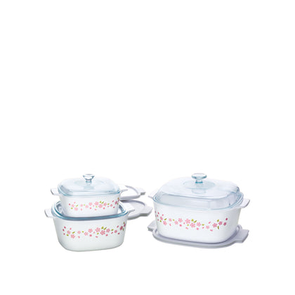 CorningWare 9pc Casserole Set - Sakura