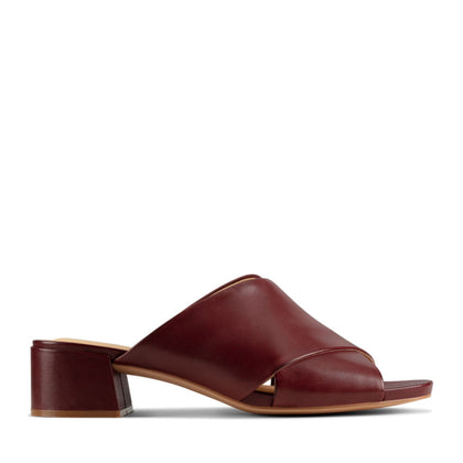 Clarks Sheer35 Mule Merlot Leather