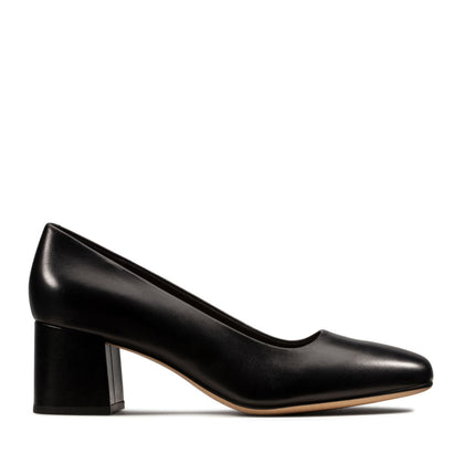 Clarks Sheer Rose Black Leather