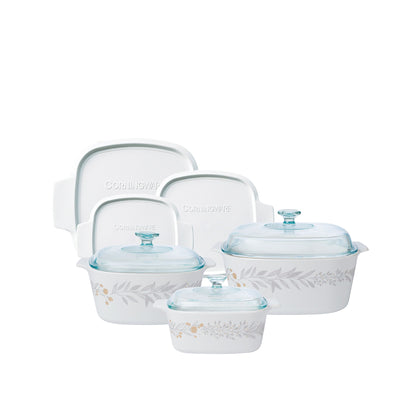 CorningWare 9pc Casserole Set - Silver Crown
