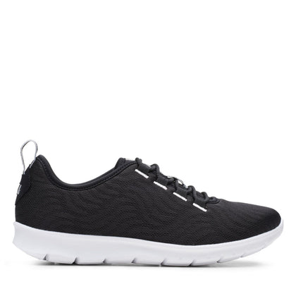 Clarks Cloudstepper Step Allena Go Black Mesh