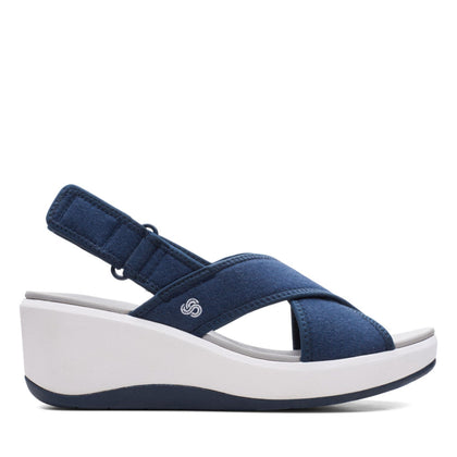 Clarks Cloudstepper Step Cali Cove Navy Textile