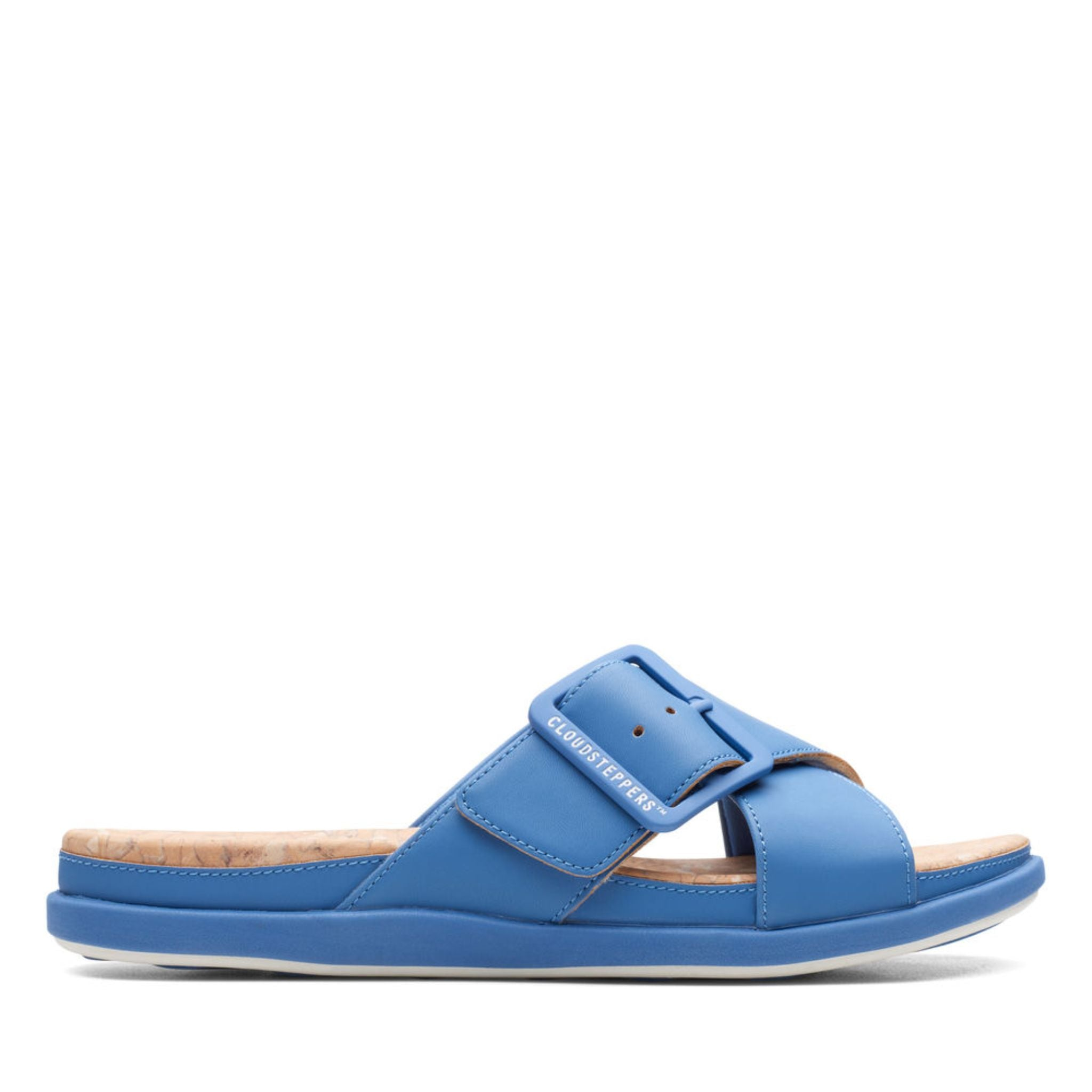 Clarks Cloudstepper Step June Shell Blue Synthetic