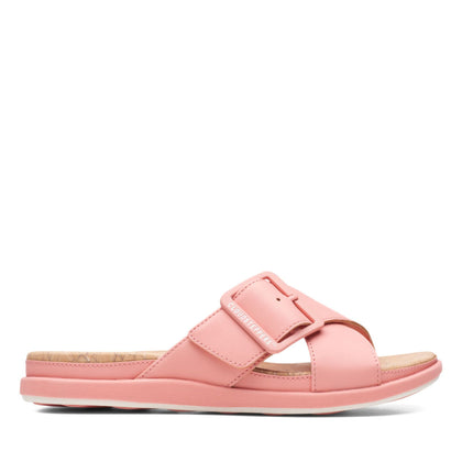 Clarks Cloudstepper Step June Shell Coral Synthetic