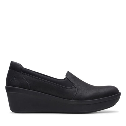 Clarks Cloudstepper Step Rose Moon Black Textile