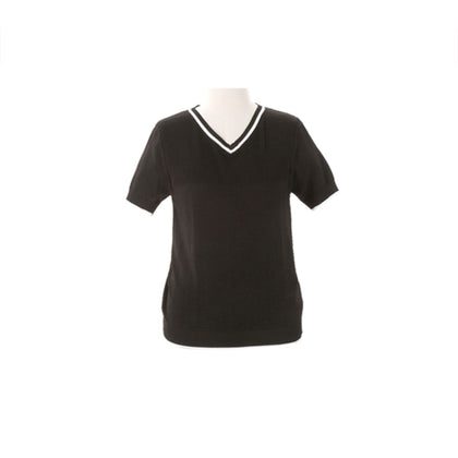 Tune Up Abstract Knit Top - Black