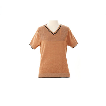 Tune Up Abstract Knit Top - Brown