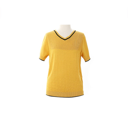 Tune Up Abstract Knit Top - Yellow